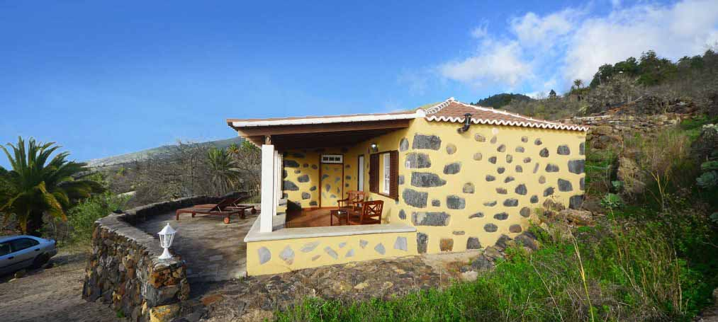 Well restored canarian house with further house